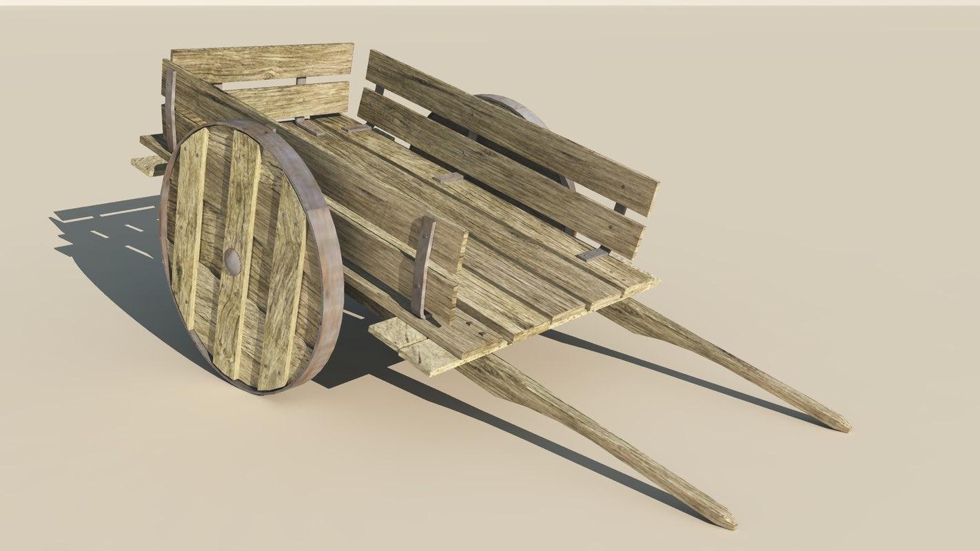 3d medieval cart model