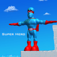3d model cartoon superhero