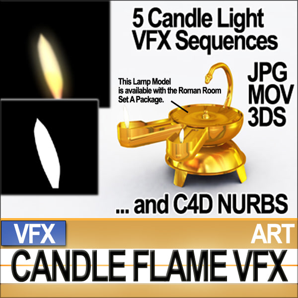 3ds max visual fx candle sequences