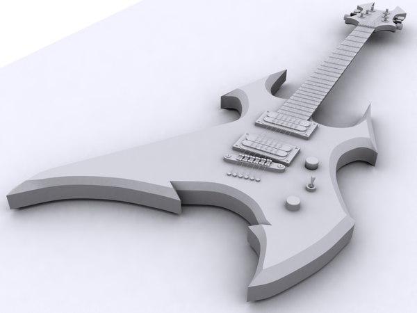 3d bc rich beast guitar model