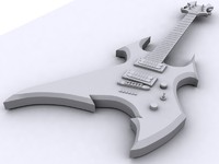 3d bc rich beast guitar model
