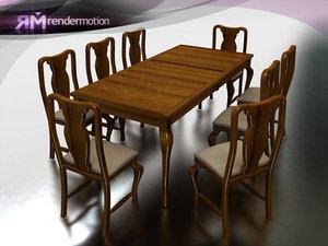 c2 s4 veracruz dining-comedor 3d model