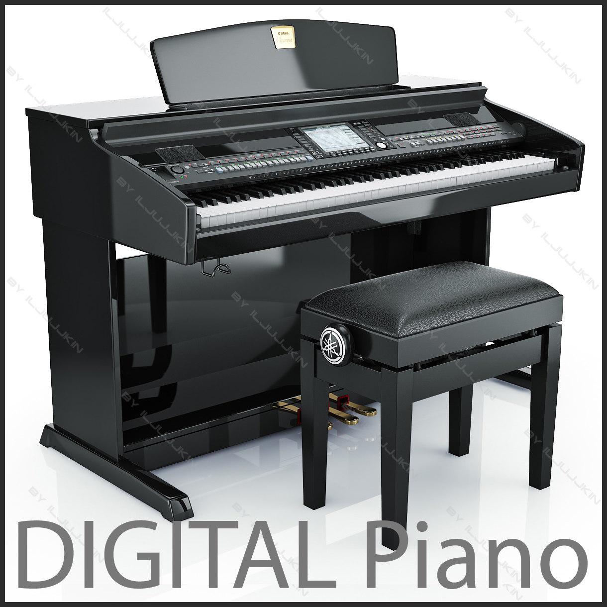 3d digital grand piano yamaha model