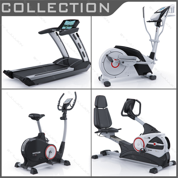 3d cardio gyms treadmill model