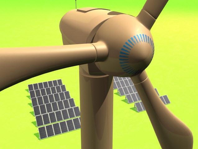 green energy 3d model