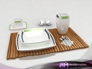 d1 c1 tableware-vajilla 3d max