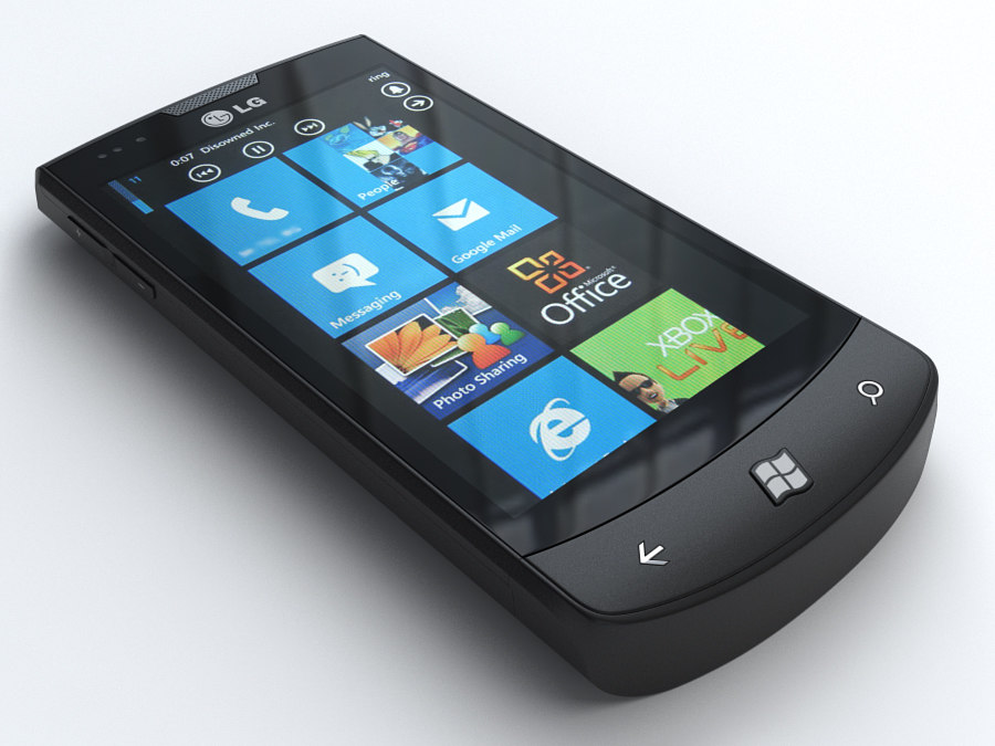 3d lg e900 optimus 7