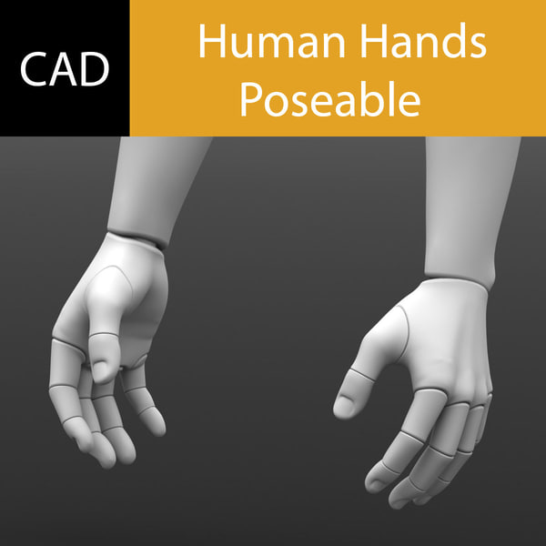 3d hand poseable solidworks