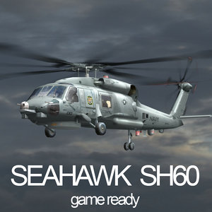 sh-60 seahawk translucent rotor 3d obj