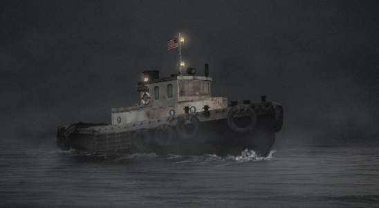 3d model tugboat boat