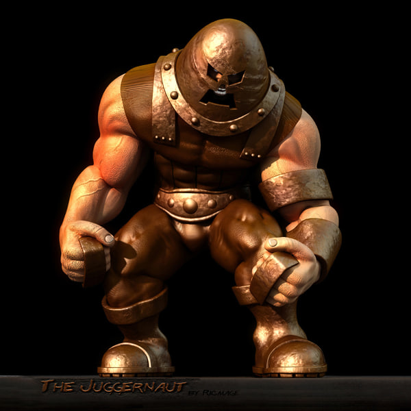 juggernaut marvel super 3d max