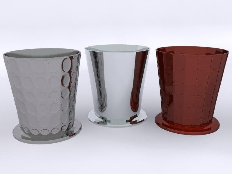 3d waste bins model