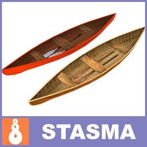 3d wooden boats