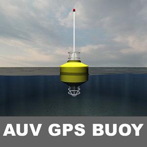 3d auv buoy model