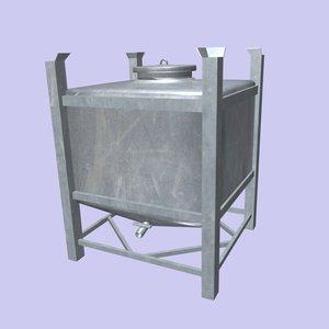 inox container 3d model