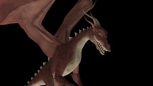rigged dragon animations 3d max