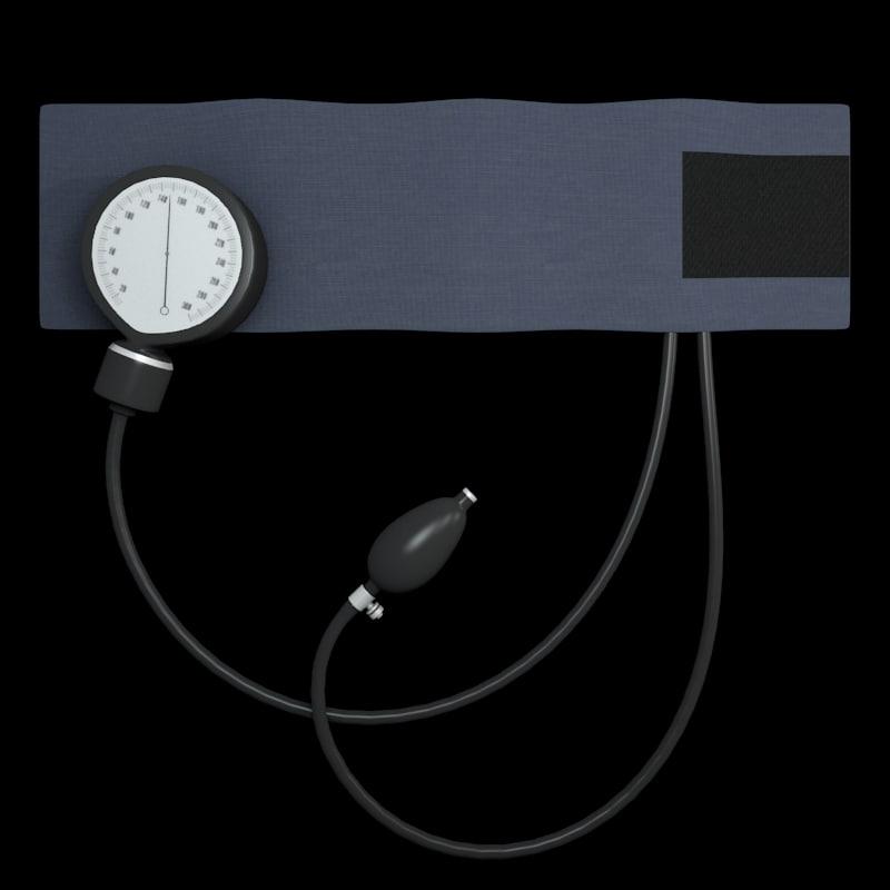 3ds max blood pressure cuff