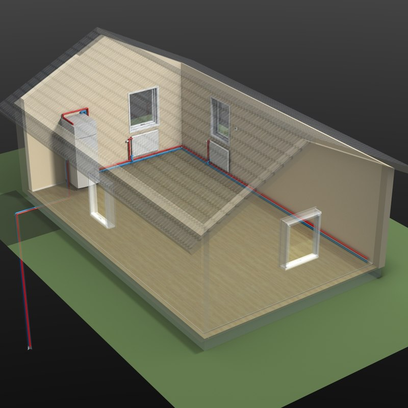 geothermal thermia 3d model
