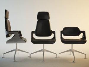 interstuhl silver bezoekersstoelen 3d model