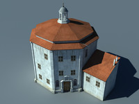 Monastery Low Poly
