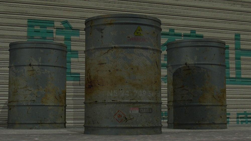 barrel industrial 3d max