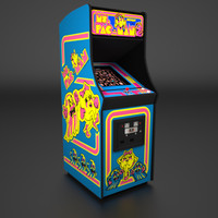 Ms. Pac-Man Arcade Low Poly