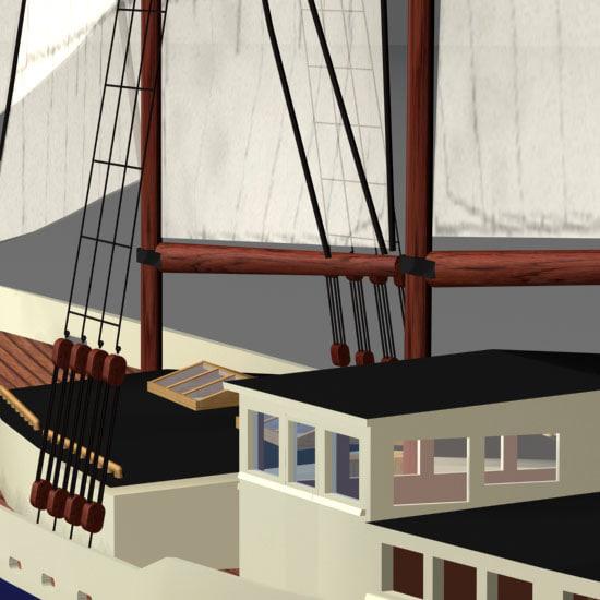 schooner grand banks 3d model
