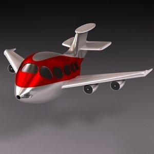 3d airplane sharper model
