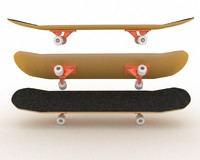 skateboard skate board 3d lwo