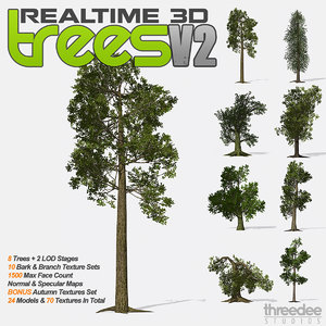 realtime trees v2 - 3d model