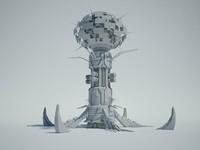 Futuristic Sci Fi Building 5
