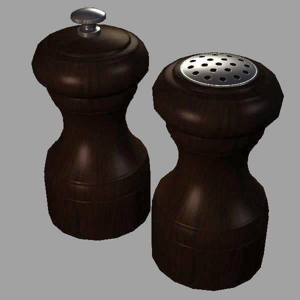 3d salt pepper shaker