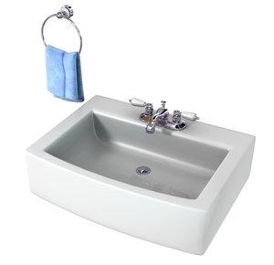 bathroom sink 3d obj
