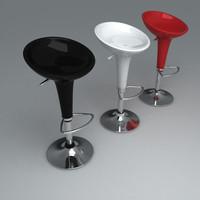 3d model bombo stool