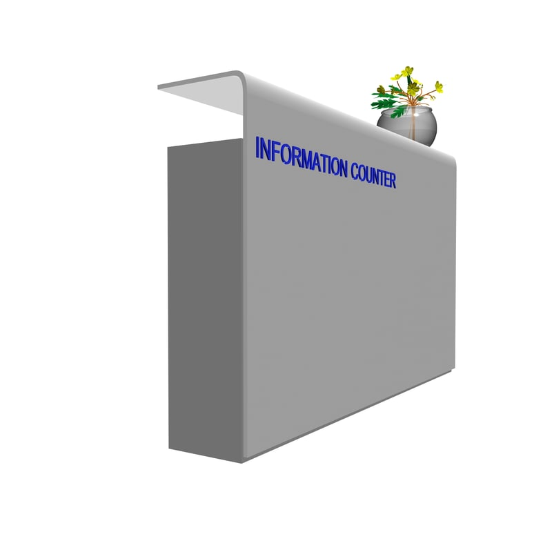 free counter 3d model