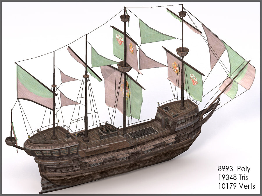spanish galleon 3d model