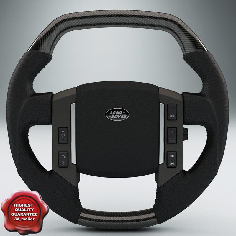 C4d Land Rover Steering Wheel