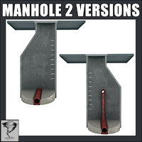 3d model 2 manholes version -