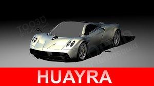 huayra pagani 3d max