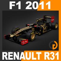 formula 1 2011 renault 3d model