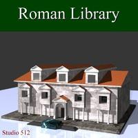 roman library 3d model