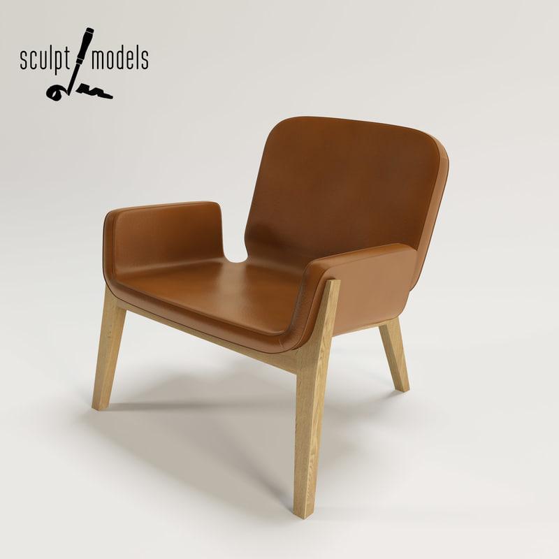 jockey armchair 3d max