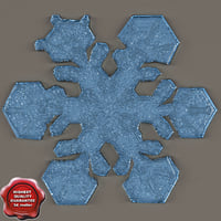 3d snowflake v1