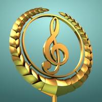 3d music logo