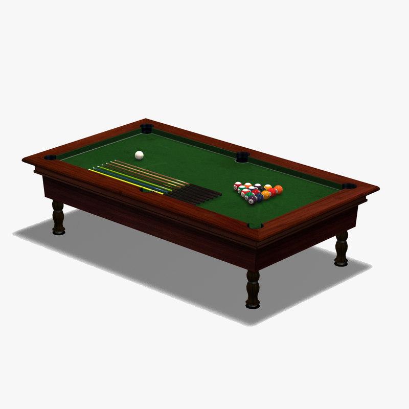 3d billiard pool