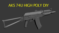 Aks74u High Poly DIY