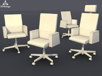 conference chair set 08 3d c4d