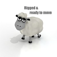 Cartoon Sheep - RIGGED