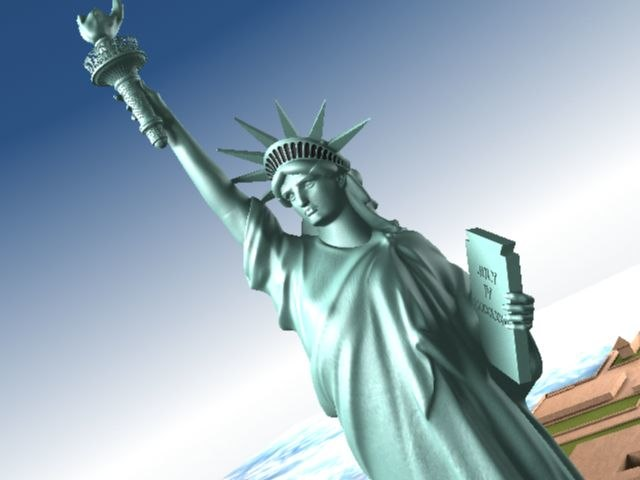 max statue liberty flag usa