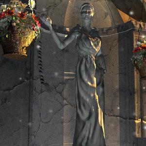 3d model statue greek